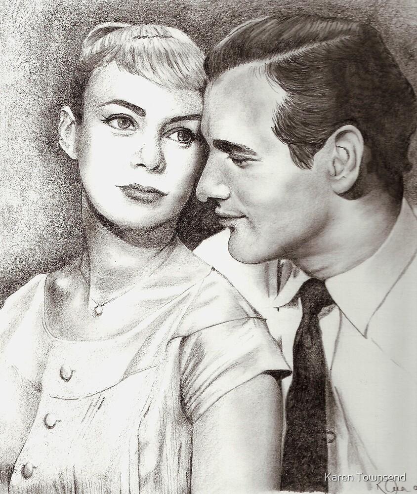 Paul Newman & Joanne Woodward by Karen Townsend