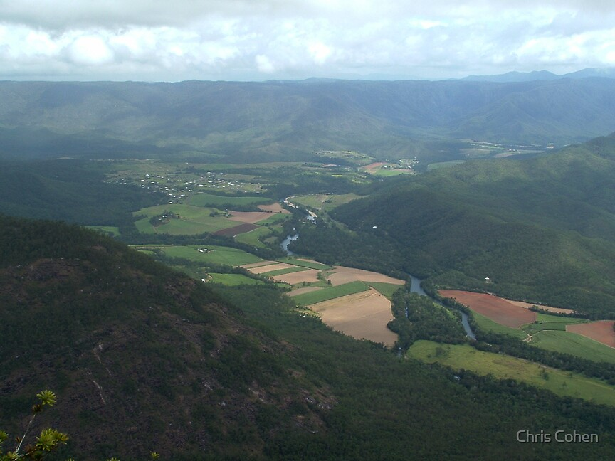 view from the Pyramid, Gordonvale (towards Atherton) by Chris Cohen