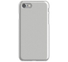 Grey and White simulated Carbon Fiber iPhone Case/Skin