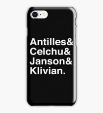 Fab Four (White Font) iPhone Case/Skin