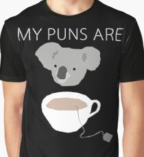 """Koala Tea"" puns Graphic T-Shirt"