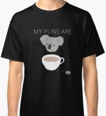 """""""Koala Tea"""" puns Classic T-Shirt"""