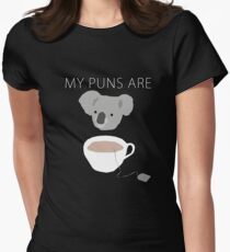 """Koala Tea"" puns Women's Fitted T-Shirt"