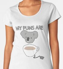 """Koala Tea"" puns Women's Premium T-Shirt"