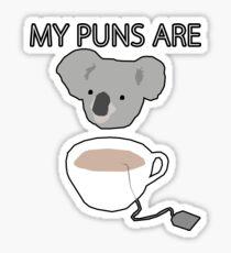 """Pegatina Juegos de palabras """"Koala Tea"""""""