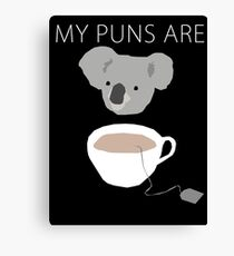 """Koala Tea"" puns Canvas Print"