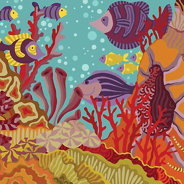 Coral Reef illustration by LidiaP