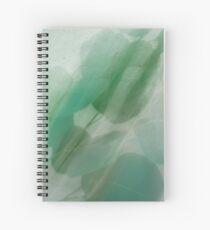 Fleur Blur Series-Abstract Eucalyptus Leaves Spiral Notebook