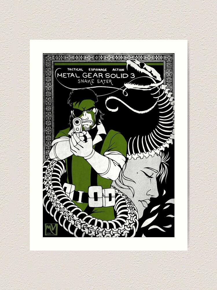 Metal Gear Solid 3 Snake Eater Art Print