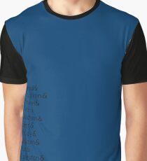 14 Doctors list Graphic T-Shirt