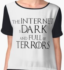 Internet is Dark & Full of Terrors Women's Chiffon Top