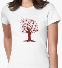 Heart Tree (2) Womens Fitted T-Shirt