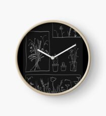 wildflowers Clock