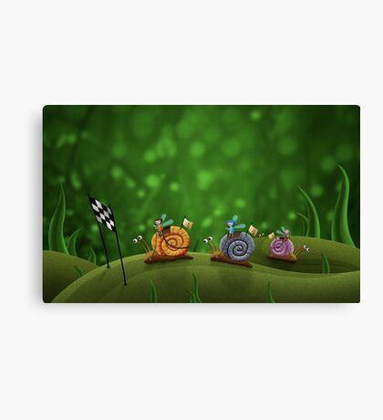 Snail Racing Canvas Print