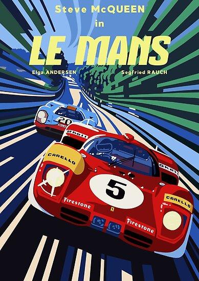Poster Le Mans von adrien72140