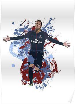 Neymar - PSG Artwork Poster