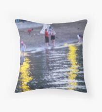 Lake George Beach Scene Throw Pillow