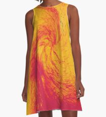 Pele's Fire A-Line Dress