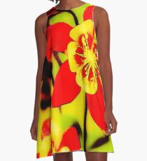Pila Fashion Design - Red and Yellow A-Line Dress
