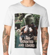 LMG MOUNTED, AND LOADED Men's Premium T-Shirt