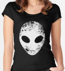 Alien Head Women's Fitted Scoop T-Shirt