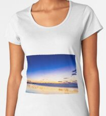 Wet sand mirrors the golden hour sky Women's Premium T-Shirt