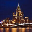 Night city by Mikhail Lavrenov