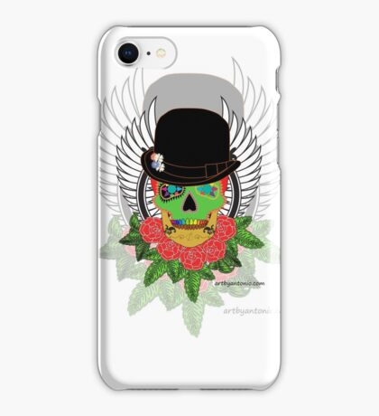 Candy Skull Orange iPhone Case/Skin