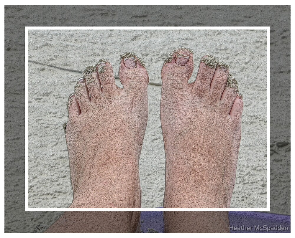 feet in the sand by Heather McSpadden
