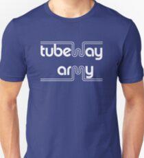 Tubeway Army 'blue' logo design Slim Fit T-Shirt