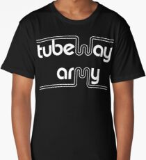 Tubeway Army 'blue' logo design Long T-Shirt