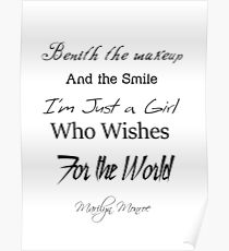 I am just a Girl who wishes for the world Poster