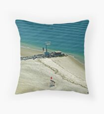 Rockaway Beach scene Throw Pillow