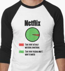 How I Spend Time On Netflix  Men's Baseball ¾ T-Shirt
