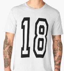 18, TEAM SPORTS, NUMBER 18, EIGHTEEN, EIGHTEENTH, ONE, EIGHT, Competition,  Men's Premium T-Shirt