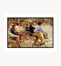 Bicycles  Art Print