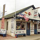 Route 66 - Angel's Barber Shop by Frank Romeo