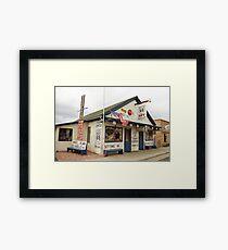 Route 66 - Angel's Barber Shop Framed Print