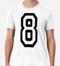 8, EIGHT, TEAM SPORTS, NUMBER 8, eighth, competition Premium T-Shirt