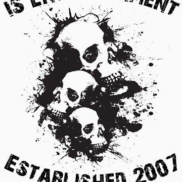 Cascading Skulls by xsharezx