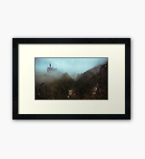 Neuschwanstein Shrouded in Fog Framed Print