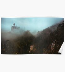 Neuschwanstein Shrouded in Fog Poster