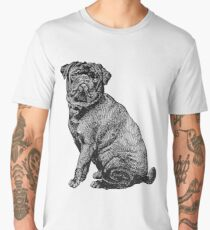 Black Pug Men's Premium T-Shirt