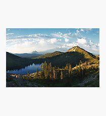 Panorama of Mt. Shasta from Heart Lake Photographic Print