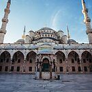 Courtyard at Blue Mosque, Istanbul by Hotaik  Sung