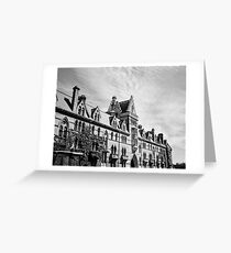 Stormy Skies and Brooding Buildings Greeting Card