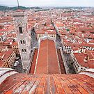 Giotto's Campanile from top of Florence Duomo   by Hotaik  Sung