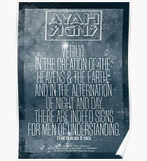 Ayah - Signs of God Poster