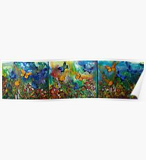 Butterfly - Triptych Poster