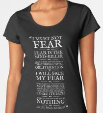 Litany Against Fear Women's Premium T-Shirt